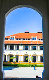 Lawang Sewu in the pillar frame Stock Images