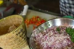 Lawar traditionell mat för Balinese Arkivfoto