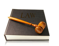 Lawbook and gavel Royalty Free Stock Image