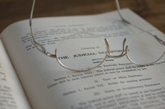 Lawbook Judicial. Lawbook with spectacles Stock Images