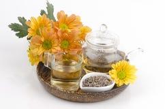 Lawendowa kwiat herbata (Lavandula angustifolia (Zjednoczone Królestwo) Obraz Stock
