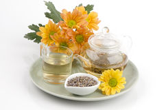 Lawendowa kwiat herbata (Lavandula angustifolia (Zjednoczone Królestwo) Zdjęcie Stock