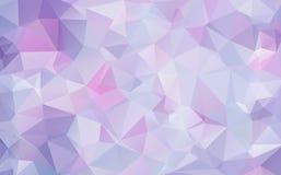 Lawendowy lily abstrakcjonistyczny poligonalny geometryczny tło royalty ilustracja