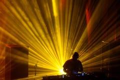 Lawina zespół wykonuje DJ setu koncert przy Primavera dźwiękiem 2016 fotografia royalty free