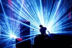 Lawina zespół wykonuje DJ setu koncert przy Primavera dźwiękiem 2016 zdjęcie stock