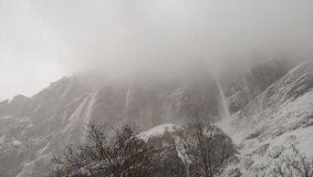 Lawine Himalayagebergte aan MBC royalty-vrije stock foto's
