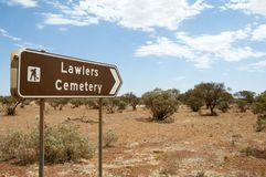 Lawler`s Cemetery. Agnew - Western Australia Royalty Free Stock Images