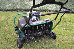 Lawn Aeration machine Stock Images