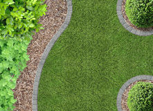 Free Lawn, Bark Compost And Plants Stock Images - 49502064