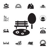 lawn and bench icon. Detailed set of landscapes icons. Premium graphic design. One of the collection icons for websites, web stock illustration