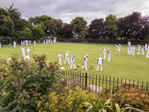 Lawn Bowling In Whitstable, Kent. royalty free stock photos