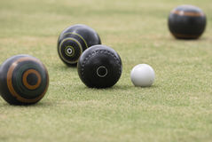 Lawn Bowls. Narrow focus on lawn bowls Royalty Free Stock Images