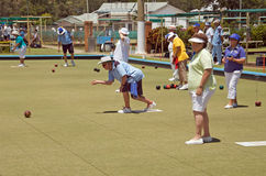 Lawn Bowls Club. Members of the Bribie Island Bowls Club, Australia, 26 January 2011 Royalty Free Stock Photography