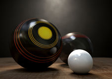Lawn Bowls And Jack Stock Photos