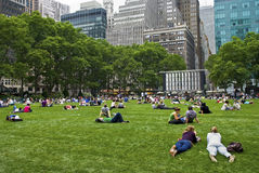 The Lawn Bryant Park Royalty Free Stock Photos
