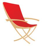 Lawn chair. Cartoon vector illustration of a lawn chair Royalty Free Stock Photos