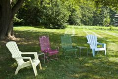 Lawn Chairs Royalty Free Stock Images