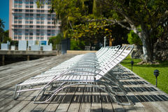 Lawn chairs stock photo