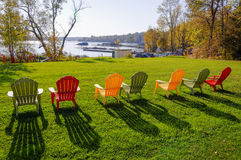 Lawn chairs Royalty Free Stock Photo