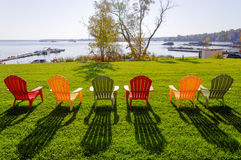 Lawn chairs Stock Images