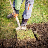 Lawn digging Royalty Free Stock Photography