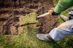 Lawn digging Stock Photos