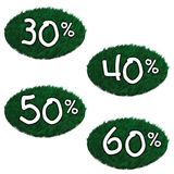 Lawn discounts Royalty Free Stock Photography
