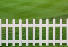 Lawn and fence Royalty Free Stock Photos