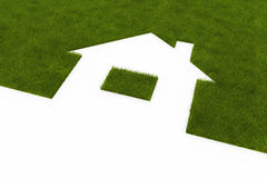 Lawn in the form of house Stock Photos