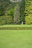 Lawn in front of the British classical architecture Stock Photo