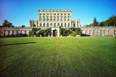 Lawn in front of the British classical architecture Royalty Free Stock Photo