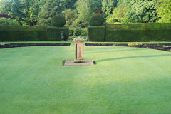 Lawn in front of the British classical architecture Royalty Free Stock Images