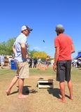USA, AZ: Lawn Game - Cornhole  Royalty Free Stock Images