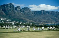 Lawn game in session, Cape Town, South Africa Royalty Free Stock Photography