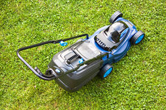 Lawn garden mower device Stock Images