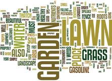 Lawn And Garden Simple Tips For Success Text Background  Word Cloud Concept Stock Photography