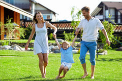 On a lawn stock image