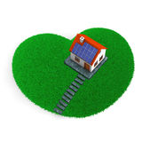 Lawn Heart House Stock Image