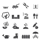 Lawn icon set Royalty Free Stock Images