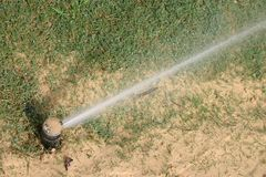 Lawn Irrigation Stock Image