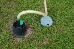 Lawn irrigation facilities Stock Photos
