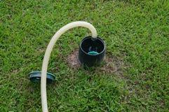 Lawn irrigation facilities Royalty Free Stock Photo
