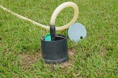 Lawn irrigation facilities Stock Image