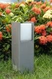 Lawn lamp stock photo