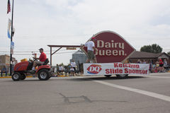 Lawn Mover pulling Dairy Queen Float Side View Royalty Free Stock Photography