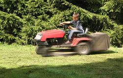 Lawn moving Stock Photography