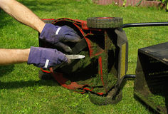 Lawn mower 01 Royalty Free Stock Image