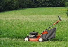 The lawn mower. Royalty Free Stock Photo