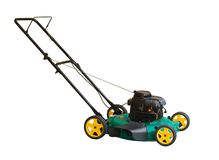 Lawn Mower. Isolated on a white background Stock Image