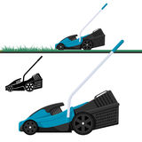 Lawn mower cutting grass isolated vector illustration Stock Photos